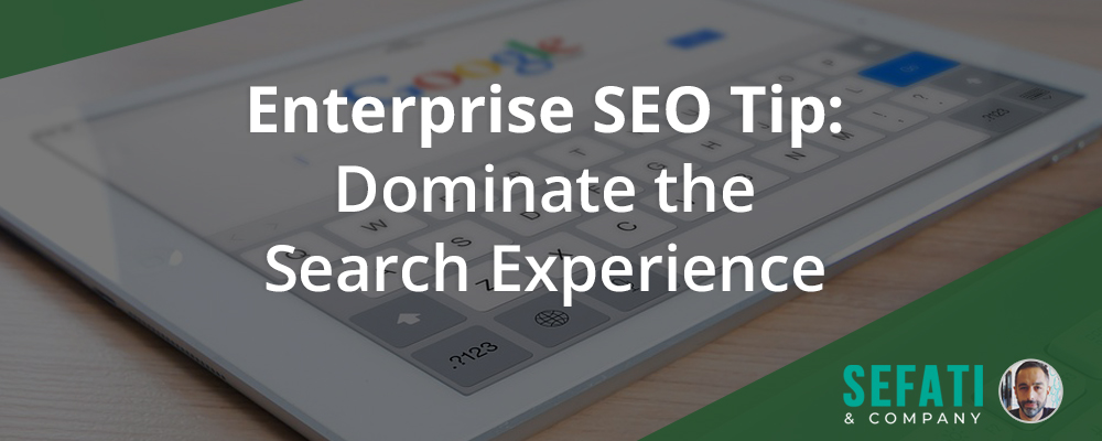 Enterprise SEO Tip: Dominate the Search Experience